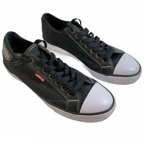 Levi's Stan Buck C Black Denim Canvas Sneakers